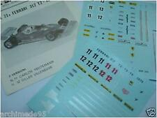 FERRARI 312 T2 1978 N.11-12  DECALS 1/43