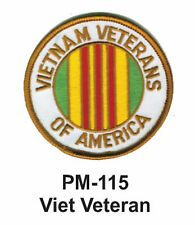 "3"" VIET VETERAN Embroidered Military Patch"