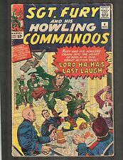 """Sgt Fury and his Howling Commandos #4 ~ """"Lord Ha-Ha's Last Laugh"""" 1963 (4.5) WH"""