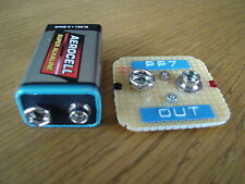 "PP7 battery ""No wires"" adapter for PP3. Transistor radio Dansette Ekco Hacker .."