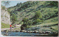 POSTCARD THE STEPPING STONES DOVEDALE DERBYSHIRE. POSTED