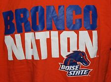 Boise State Bronco Nation Men's New Agenda Orange T Shirt Size Medium
