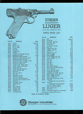 Rare Vintage Stoeger Luger 22 Ca. Long Rifle Pistol Illustrated Parts List