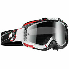 Thor NEW Mx Ally Prism Dirt Bike Black Red White Smoke Tinted Motocross Goggles