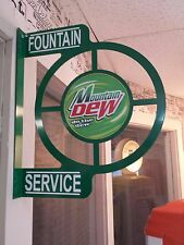 MOUNTAIN DEW NOSTALGIC/RETRO WALL FLANGE ADVERTISING SIGN