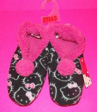 NWT Sanrio Hello Kitty Sherpa lined Pom SLIPPER SOCKS for Women  5/6, 7/8