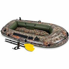 Intex Inflatable Realtree Seahawk 2 Two-Person Boat with Oars and Pump
