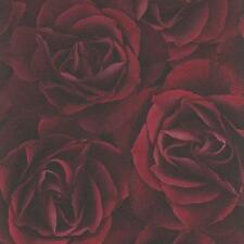 Dark Red Rose Wallpaper Feature Wall Luxury Paste the Wall Vinyl 525625
