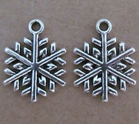 20pc Tibetan Silver SNOWFLAKE Dangle Charm Beads 15*20mm Wholesale PL024