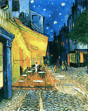 "VINCENT VAN GOGH ""The Cafe Terrace""  MUSEUM QUALITY 8.3X11.7 CANVAS PRINT poster"