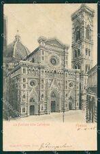 Firenze Città PIEGHINA cartolina XB4141