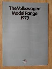 VOLKSWAGEN RANGE 1979 UK Mkt Sales Brochure - Scirocco Passat Golf Derby Polo VW