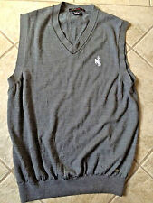 Men's Tiger Woods Collection Golf Merino Wool Sweater Vest Gray Size M bx16
