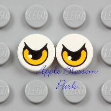 NEW Lego 2 Eagle EYE TILES 1x1 White Chima Bird Minifig Pair Animal Eyes 70124