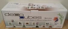 Bio Bubble Deco Cubes Stackable Fish Tanks - White - 3 Pack New In Box