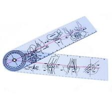 "Goniometer Angle Medical Ruler Rule Joint Bend Measure Plastic PVC 8"" 200mm 12"