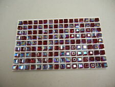 24 swarovski cube shape crystal beads,6mm siam AB #5601