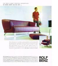 PUBLICITE ADVERTISING  2002   ROLF BENZ  meubles