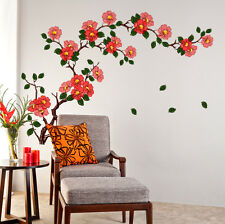 Wall Stickers Floral Branch Sofa Living Room Background Antique Flowers Art