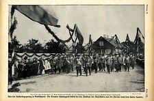 Spalier der Revaler Schuljugend * Kaiser Wilhelm II. *  Der Zar von Rußland 1912