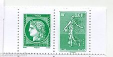FRANCE, 2014, PAIRE timbres LETTRE VERTE 3 ANS, CERES SEMEUSE, neuf** MNH STAMPS