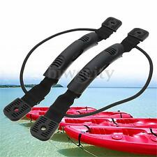 1 Pair Kayak Canoe Boat Side Mount Carry Handle With Bungee Cord Accessories