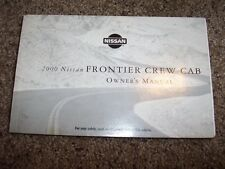 2000 Nissan Frontier Crew Cab Owner User Guide Operator Manual XE SE 3.3L V6