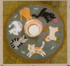 PATTERN - The Cat's Meow Candle Mat - cute applique candle mat PATTERN