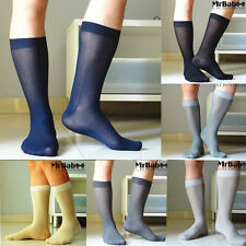 6Pairs Lot Men's 100% Nylon Different Colors Sheer Striped Dress Formal Socks