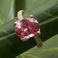 FARBENJÄGER Kollektion Ring 750er-Gold 0.28 ct Brillant 3.21 ct Pink SPINELL
