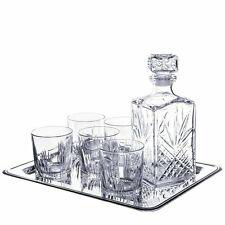 Whiskey Gift Set 7 Pieces - 6 Glasses And Decanter Free Shipping NO TAX
