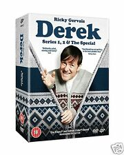 DEREK: Series 1 + 2 & The Special (DVD)~~~~Ricky Gervais~~~~NEW & SEALED