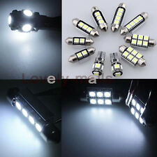 Error Free White Led Interior Bulb Light Package Kit For AUDI A4 8E Limo 04 Y1