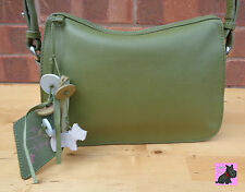 RADLEY - Small 'Maiden' Olive Green Leather Shoulder/Crossbody Bag *NEW*