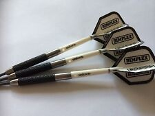 34g 85% Tungsten Hurricane Dart Set,Unicorn Gripper Stems, Dimplex white Flights