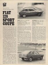 Fiat 128 Sport Coupe 1300 SL 1972-73 UK Market Road Test Brochure Motor