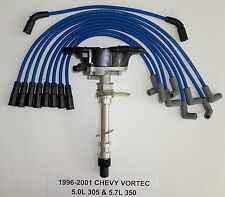 CHEVY VORTEC 1996-2001 5.7L/350 5.0L/305 Distributor & BLUE Spark Plug Wires USA