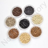200 400 1000 Copper 100% Professional Nano Rings Beads for Remy Hair Extensions