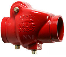 """3"""" CHECK VALVE GROOVE x GROOVE 300PSI UL/FM - FIRE PROTECTION"""