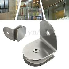90° Stainless Steel 8-12mm Shelf Support Wall Partition Glass Bracket Clamps