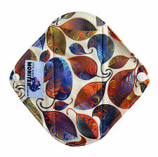 Cloth Menstrual Pad, Bamboo Charcoal Mumma Cloth Light Liner - Autumn Leaves