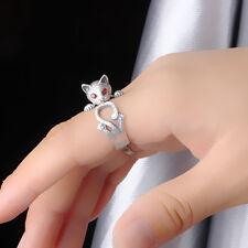 Mujer Punk Anillos De Dedo Nudillo Gato Anillo Ring joyería