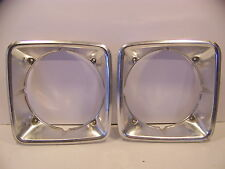 1974 DODGE VAN HEADLIGHT BEZELS 1975 1976 1977 1978 SPORTSMAN TRADESMAN OEM