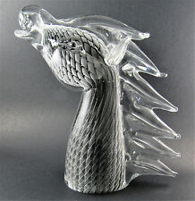 VINTAGE MURANO ART GLASS HORSE HEAD SCULPTURE FIGURINE by NASON made in ITALY le