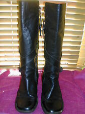 Dr Martens Ladies Knee High Leather Boots Size Uk 8  Eu 42