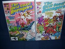 West Coast Avengers #15 and #31 Comic Lot Marvel Comics With Bag and Board