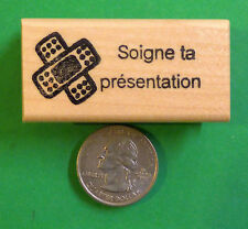 Soigne ta pesentation - French Teacher's Rubber Stamp