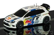 C3525 Scalextric Slot Car 1:32 Volkswagen Polo R Wrc No. 8 Rally Suecia 2013 Nuevo