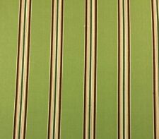 RICHLOOM HAMILTON KIWI GREEN STRIPE OUTDOOR CUSHION FURNITURE FABRIC 1 YARD