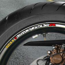 8 x RIZLA SUZUKI GSX R  WHEEL RIM STICKERS
